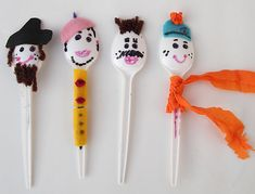 cucharas de plástico plastic spoons diy niños kids children miraquechulo