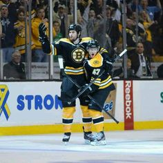 6/7/13 Adam McQuaid lights the lamp with the B's winning goal in round 3 playoff game 4 at TD Garden vs Pittsburgh Pens.