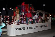 Downtown West Branch packed for Christmas Float Ideas, West Branch, Stage Design, Set Design, Design Set, Scenic Design