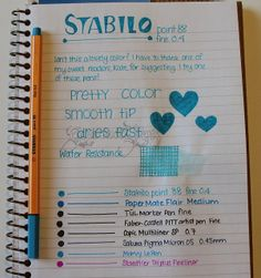 Review: Stabilo Point 88 Fineliner 0.4 mm Marker Pen - Turquoise Blue by GourmetPens, via Flickr
