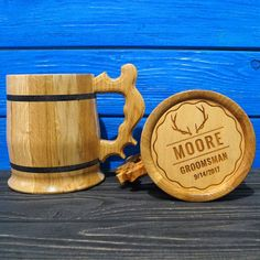 A wooden mug can be a really great gift for you or for your close ones.  Our high class engraving will always be a reminder of the happy events in your life.  It is a very useful mug because it has a stainless steel coating inside which helps to keep your beer cold for a long period of time.  You can also use this mug for holding your hot drinks.  This Beer Mug is perfect for everyday use. It can be a stunning and unique gift for any occasion like Christmas, Birthday, Anniversary, Fathers…