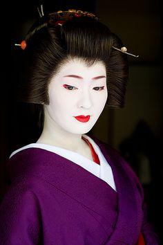 Japan. Kimina, a geiko of Miyagawa-cho, Kyoto, in Purple | Flickr: