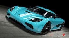 Tiffany Blue Koenigsegg Agera