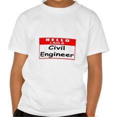 Hello, I Am A Civil Engineer  Nametag T Shirt, Hoodie Sweatshirt