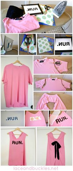 DIY bow shirt- Disney Fun Run 2013