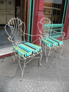1000 images about mi sillones patio on pinterest pvp mesas and vintage chairs for Juegos de jardin de hierro