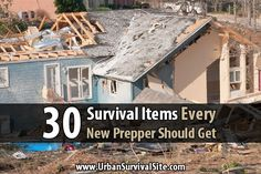 If you're a new prepper, here's a list of 30 survival items that will help you and your family survive most temporary disasters for up to two weeks.