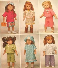 "18"" Doll Summer Clothes Sewing Pattern"
