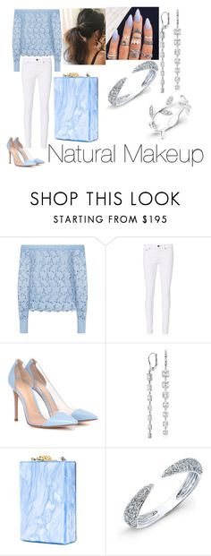 """""""Untitled #2021"""" by kkfeher ❤ liked on Polyvore featuring Robert Rodriguez, rag & bone, Gianvito Rossi, Blue Nile and Edie Parker"""
