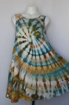 Small sleeveless tunic ice dye - Marissa's Mist twist by A Spoonful of Colors Find this item on https://aspoonfulofcolors.com