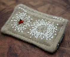 Writing Descriptions for Your Etsy shop.....Fabric Fiber Brooch Pin Hand Embroidered Queen Annes Lace Textile @Tim Adam