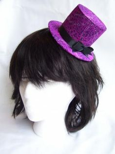 Psychadelic Purple Mini Top Hat by aic for $22.00