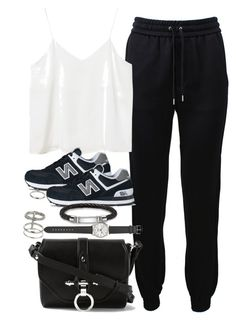"""Untitled #2851"" by plainly-marie ❤ liked on Polyvore featuring Barbara Bui, Monki, New Balance, Givenchy, Thomas Sabo, J.Crew, Topshop, women's clothing, women's fashion and women"
