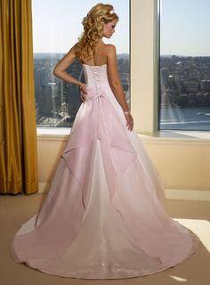 Beautyfull White Wedding Dresses Fashion of Pink Princess Wedding Gowns