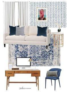Do you have an unused room or space in your home that you have no clue what to do with? Why not turn that empty room into a stylish and feminine home office that won't break the bank?! Check out this home office remodel that has big style for a low cost. Feminine Office, Feminine Home Offices, Cozy Office, Office Decor, Office Ideas, Office Inspo, Interior Decorating Tips, Interior Design Tips, Design Ideas