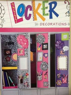 Locker Decorating Ideas More Lockers Locker Ideas And School Ideas