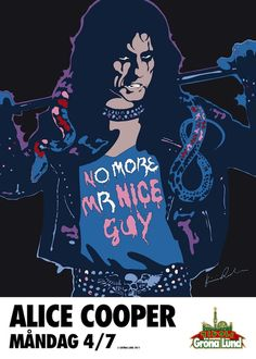 Alice Cooper - poster by Kristian Russell