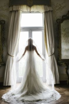 Long lace veil - My wedding ideas