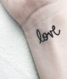 valentine love temporary tattoo simple black script typography tattoo fake body art small dainty letterhappy etsy $4+sh.