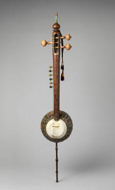 Sāz-ī-Kāshmīr, Musical Instruments Medium: walnut, iron, metal, plastic, skin, cloth Purchase, Amati Gifts, 2015 Metropolitan Museum of Art, New York,...