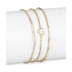 Sugarfix by BaubleBar Stack Bracelet Set ($17) ❤ liked on Polyvore featuring jewelry, bracelets, gold, gold bangles, gold cuff jewelry, gold chain jewelry, gold chain anklet and gold jewellery