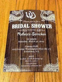 Western Bridal Shower Invitation
