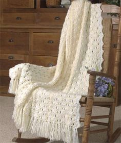 Bridal Ribbons Afghan free crochet pattern