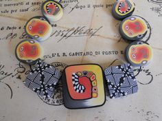 Polymer Clay Beads by TLS Clay Design by TLSClayDesign on Etsy, $18.99