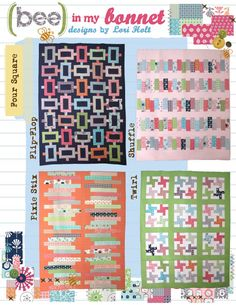 Four Square Quilt Pattern by Bee in my Bonnet