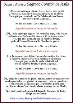 SÚPLICA DIARIA AL CORAZÓN DE JESÚS