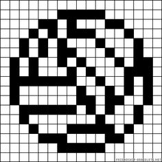 Here is a vollyball layout for pelargonium beads Pony Bead Patterns, Hama Beads Patterns, Beaded Jewelry Patterns, Beading Patterns, Cross Stitch Patterns, Perler Bead Templates, Peler Beads, Graph Design, Melting Beads
