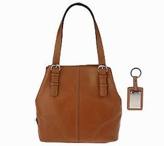 Tignanello Pebble Leather Double Handle ConvertibleTote - QVC.com