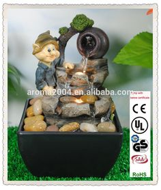 miniature dwarf indoor fountain gnome resin home waterfall, View gnome resin home waterfall, AROMA Product Details from Xiamen Aroma Trade Co., Limited on Alibaba.com
