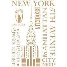 Stencil Deco Vintage Composición 201 New York
