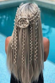 Do you love braids as much as I do? Braided hairstyles are more popular than ever. and these stunning hairstyles will fill your heart with joy! So if you're looking for cute braided hairstyles for a wedding, boho braids, or party hair ideas, you'l Cool Braids, Braids For Long Hair, Amazing Braids, Natural Hair Styles, Short Hair Styles, Natural Beauty, Braided Hairstyles Tutorials, Party Hairstyles, Wedding Hairstyles