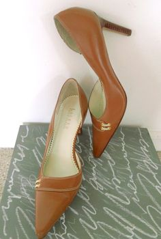 SOURCE: RALPH LAUREN / Leather Heels Fashion Pumps Shoes Mad by NiceBooty, $50.00