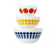 Vintage Charm™ Spot On 3pc Mixing Bowl Set - Inspired by Pyrex®
