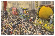 Parade floats of old