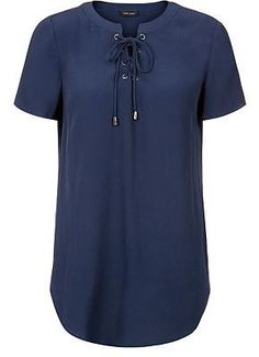 Womens french navy t-shirt from New Look - £17.99 at ClothingByColour.com