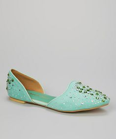 Look what I found on #zulily! Mint Sparkle Stud Willow Flat #zulilyfinds