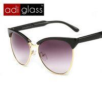 Adiglass a estrenar 2016 moda Cat Eye Sunglasses Women Vintage Eyewear patas De Metal Retro gafas De Sol gafas De Sol Feminino