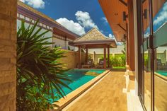Ideal for a couple or a family of three or four.m built area with a m swimming pool, 2 bedrooms, a living room and a fully equipped kitchen Resort Villa, Deck Chairs, Phuket Thailand, Private Pool, Luxury Villa, Terrace, Swimming Pools, Bedrooms, Couple