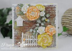 My Little Craft Things: Card Tutorial for Frilly & Funkie - Summer Heat Challenge Step Cards, Craft Things, Summer Heat, Handmade Cards, Brick, Card Making, Backgrounds, Challenges, Tutorials