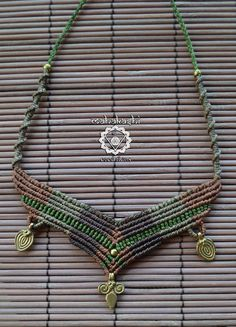 Macramè tribal primitive necklace