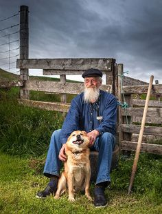 man and his dog, Iceland