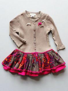 Send her to preschool in style with Eliane et Lena Toddler Girls Choco Ashton Dress. Sizes 2, 3 and 4