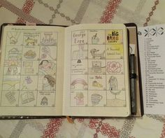 Had so much fun with the November doodle challenge, it certainly made you think!  #bujo #bulletjournal #doodle