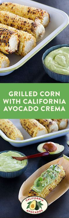 Grilled Corn with California Avocado Crema