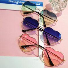 fe572f87bf Vintage Colorful Heart Sunglasses. Storenvy. File d2918e28aa original