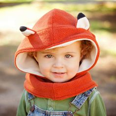 Children Fox Hat Boys Hooded Neck warmer Kids by MondoRotondo hooded cowl cowl Fox Scarf, Fox Hat, Baby Boy Outfits, Kids Outfits, Book Day Costumes, Hooded Cowl, Kids Hats, Neck Warmer, Baby Hats